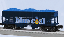 Pre-order for Lionel O scale Reading Blue Coal  2 bay hopper car, 3 rail,
