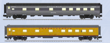 Pre-order for Lionel  O gauge PRR-UP streamined thru sleeper cars (set of 2 cars), 3 rail