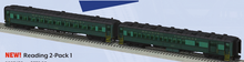 Pre-order for Lionel  O gauge Reading  set of 2 commuter passenger cars, (set #1)