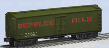 Pre-order for Lionel O scale Supplee Milk wood express reefer with tanks, 3 rail