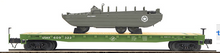 MTH Premier set of 4 US Army Flat Cars with Duck vehicle, 3 rail