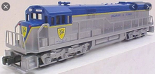 Williams D&H U33C   diesel, 3 rail, horn and bell