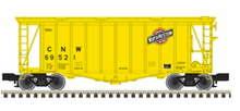 Pre-order for Atlas O C&NW (yellow) Airslide Covered Hopper, 3 rail or 2 rail