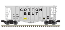 Pre-order for Atlas O Cotton Belt (SSW) gray/black 40' single bay Airslide Covered Hopper, 3 rail or 2 rail