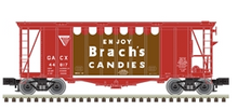 Pre-order for Atlas O Brach's Candies (version 3)  40' single bay Airslide Covered Hopper, 3 rail or 2 rail
