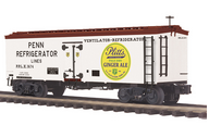 MTH Premier Pitts Ginger Ale 36' wood reefer,  3 rail