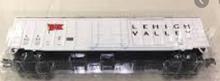 Weaver Lehigh Valley (white)  50' plug  door box car, 3 rail or 2 rail