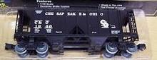 Weaver Special run C&O (black) PS-2  covered  hopper car, 3 rail or 2 rail