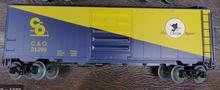 Weaver special run C&O (cat logo)  40' PS-1 box car, 3 rail or 2 rail