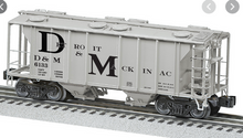 Lionel Detroit & Mackinac 34'  PS-2  covered hopper car, 3 rail