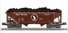 Lionel Great Northern  2 bay offset hopper car, 3 rail