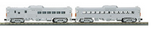MTH Railking Semi-scale New Haven Budd RDC 2 car non-powered set, 3 rail