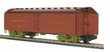 MTH Premier PRR R50B express  reefer (ARE, green trucks), 3 rail