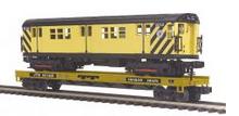 MTH Premier TTX Flat Car with R-17 work service subway car, 3 rail