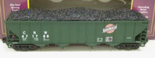 MTH Premier CNW 4-Bay  Hopper w/Coal Load, 3 rail