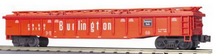 MTH Premier Burlington (CB&Q) Gondola w/ Removable Cover, 3 rail