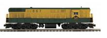 MTH Premier Reading  H24-66 FM Trainmaster, 3 rail, non powered