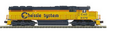 MTH Premier Chessie (C&O) SD-50, 3 rail, non powered