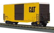 MTH Rail King Caterpillar 40' High Cube Box Car, 3 rail