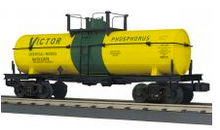 MTH Railking  Victor Chemical 11,000 gal style  Tank Car, 3 rail
