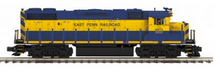 MTH Premier  East Penn  GP-38, 3 rail, w/Sound & exhaust. proto 3.0