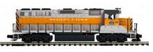MTH Premier Western Pacific GP-40  diesel, 3 rail, P3.0