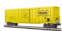 MTH Premier Frisco (SLSF)  50' Waffle side Box car, 3 rail