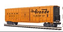 MTH Premier Rio Grande 50' Waffle side Box car, 3 rail