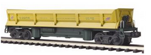 MTH Premier C&NW Operating Difco air dump (side dump) car, 3 rail