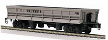 MTH Railking scale Conrail Operating Difco side dump car, 3 rail