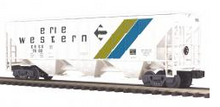 MTH Premier Erie Western PS-2CD 50' grain covered hopper, 3 rail