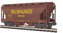 MTH Premier MILW  2-Bay Centerflow Covered Hopper, 3 rail