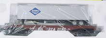 MTH Railking  Reading Flat Car with Trailer, 3 rail