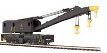 MTH Premier B&O wreck crane & idler caboose, 3 rail