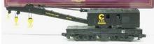 MTH Premier Chessie (C&O) wreck crane & idler caboose, 3 rail, Like New