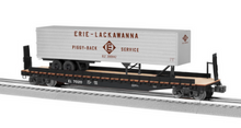 Lionel  EL   50'  wood deck pig flat with EL trailer