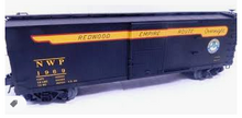 Atlas O  special run NWP (redwood empire)  40'  double sheathed (wood)  box car