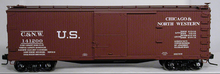 Atlas O  C&NW  40'  double sheathed (wood)  box car