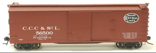 Atlas O  CCC&StL (NYC)  40'  double sheathed (wood)  box car