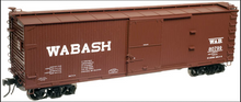 Atlas O  Wabash 40'  double sheathed (wood)  box car