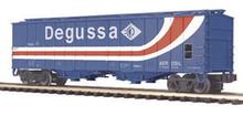 MTH Premier Degussa AG (silica) 50' Airslide Covered Hopper, 3 rail
