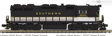 Pre-order for MTH Premier Southern SD-35 High Hood, 2 rail, Proto 3.0, DCC