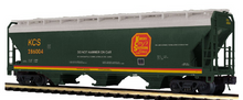 Pre-order for MTH Premier  KCS  ACF  3 bay centerflow covered hopper car, 3 rail