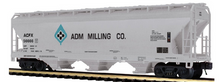 Pre-order for MTH Premier  ADM Milling  ACF  3 bay centerflow covered hopper car, 3 rail