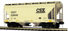 Pre-order for MTH Premier  CSX   ACF  2 bay centerflow covered hopper car, 3 rail