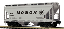 Pre-order for MTH Premier  Monon   ACF  2 bay centerflow covered hopper car, 3 rail