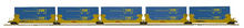 Pre-order for MTH Premier TTX  5 car twin stack car with CSX containers, 3 rail
