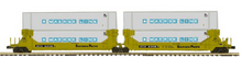Pre-order for MTH Premier SP/TTX  2 car twin stack car with Maersk  containers, 3 rail