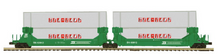 Pre-order for MTH Premier BN 2 car twin stack car with Sealand  containers, 3 rail