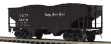 Pre order for MTH Premier 6 car set of NKP  2 bay offset  hopper cars,  3 rail